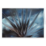 Encaustic Ice - Silver White Abstract Karte