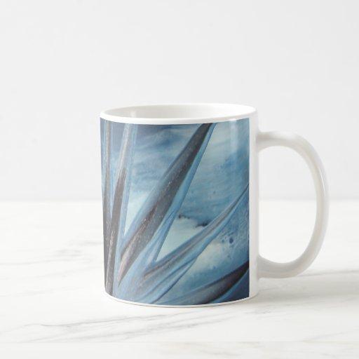 Encaustic Ice - Silver White Abstract Teetasse