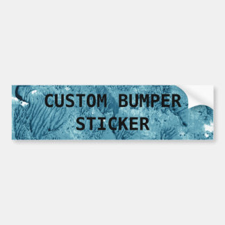 Encaustic Teal Blue Background to Customize Bumper Sticker