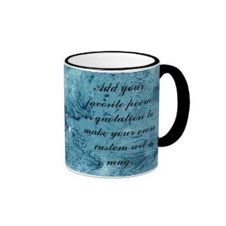 Encaustic Teal Blue Background to Customize Mug