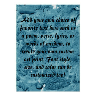 Encaustic Teal Blue Background to Customize Poster