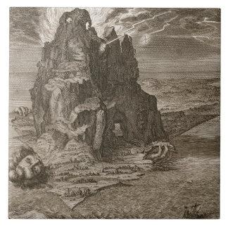 Enceladus enterró por debajo el monte Etna, 1731 ( Azulejo Cuadrado Grande