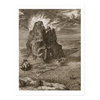 Enceladus enterró por debajo el monte Etna, 1731 ( Tarjetas Postales