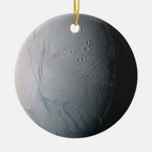 Enceladus Double-Sided Ceramic Round Christmas Ornament