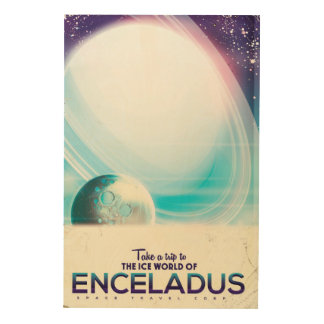 Enceladus Space travel vintage poster