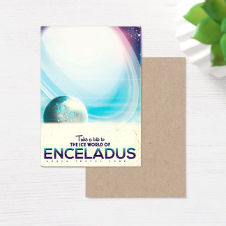 Enceladus Space travel vintage poster Business Card