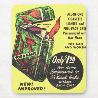 Encendedor retro del kitsch del vintage su del mouse pad