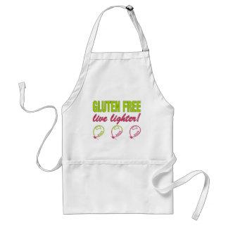 ¡Encendedor vivo libre del gluten! Alergia del glu Delantal