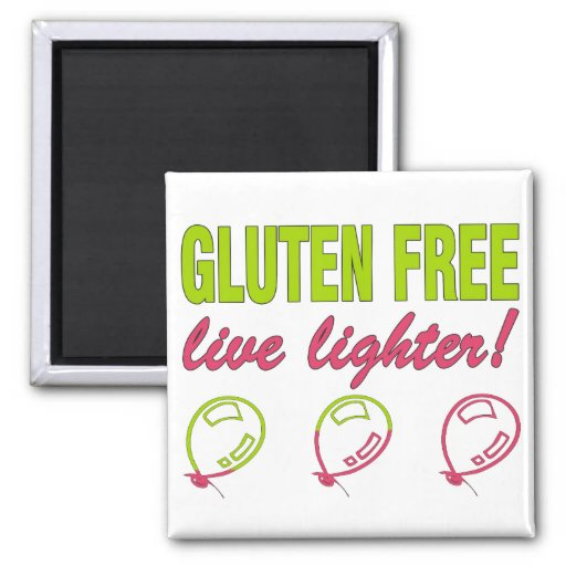¡Encendedor vivo libre del gluten! Alergia del glu Imanes De Nevera