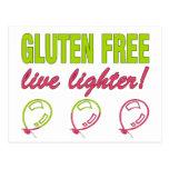 ¡Encendedor vivo libre del gluten! Alergia del glu Tarjeta Postal