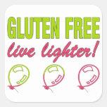¡Encendedor vivo libre del gluten! Alergia del Colcomanias Cuadradases
