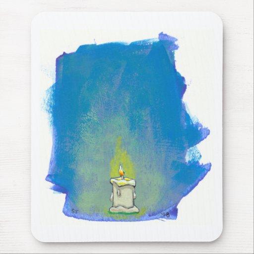 Encendemos una vela y damos a gracias arte inspira alfombrillas de ratones