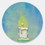 Encendemos una vela y damos a gracias arte etiquetas redondas