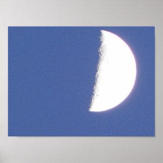Encerar la fotografía de la luna poster