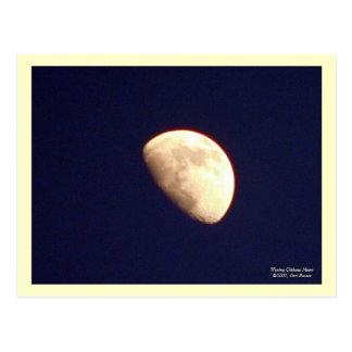 Encerar la postal gibosa de la luna