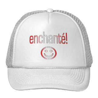 Enchanté! Canada Flag Colors Mesh Hats