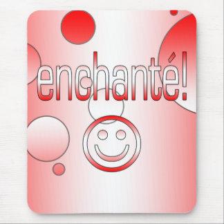 Enchanté! Canada Flag Colors Pop Art Mouse Pad