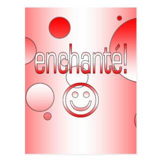 Enchanté! Canada Flag Colors Pop Art Postcard