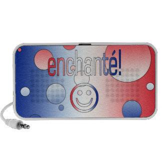 Enchanté! French Flag Colors Pop Art Mini Speakers