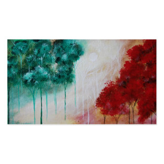 Enchanted Abstract Art Landscape Skinny Trees Business Card