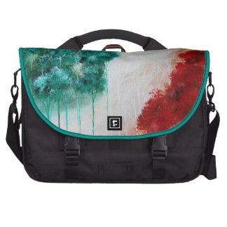 Enchanted Abstract Art Landscape Skinny Trees Laptop Commuter Bag