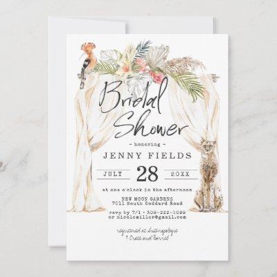 Enchanted African Safari Bridal Shower Invitation