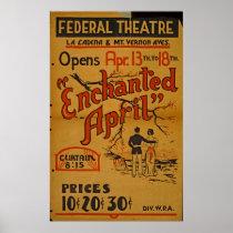 Enchanted April At Federal Theatre Vintage WPA