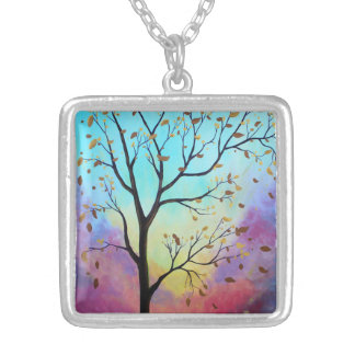 Enchanted Aura Silver Plated Necklace