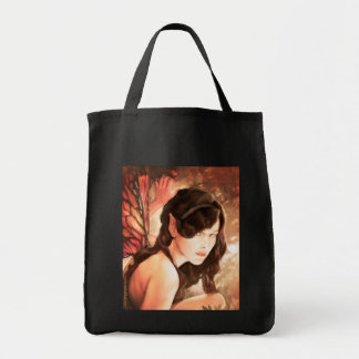 Enchanted Autumn Fairy Grocery Tote