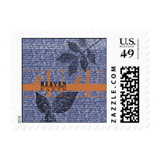 Enchanted Birds Blue Postage Stamp