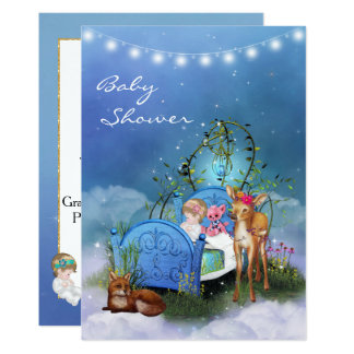 Enchanted Blue Baby Shower Invitation