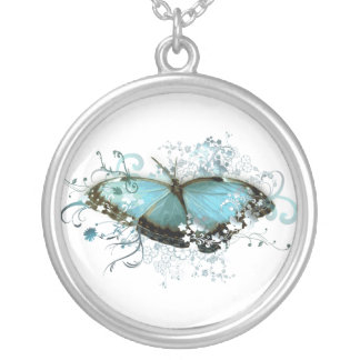 Enchanted Blue Silver Plated Necklace