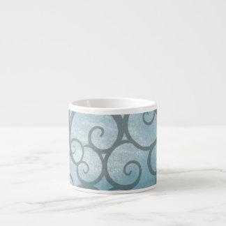 Enchanted Blue Wavy Swirl Pattern Espresso Cup