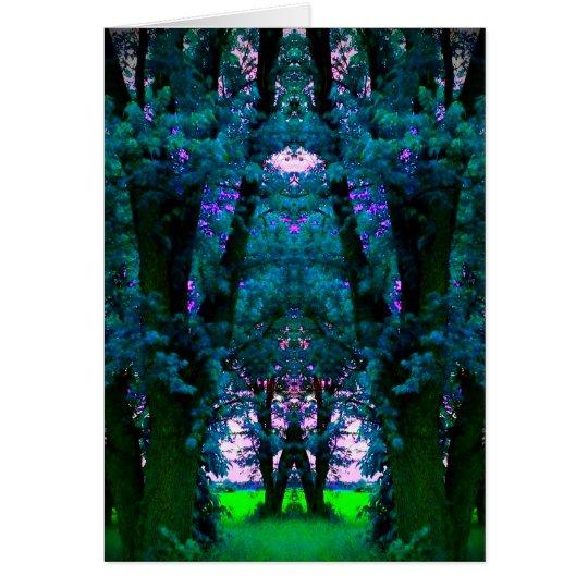 Enchanted Blue Woods Art Photo Blank Inside Card