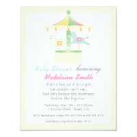 Unknown gender baby shower invitations announcements zazzle enchanted carousel neutral baby shower invitation filmwisefo Image collections