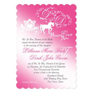 Enchanted Carriage Fairy Tale Wedding Card