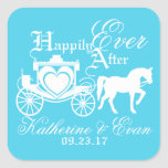 Enchanted Carriage Fairytale Square Sticker