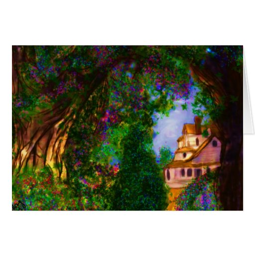 Enchanted Cottage Greeting Card