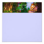 Enchanted Cottage 5.25x5.25 Square Paper Invitation Card