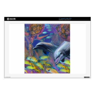Enchanted Dolphins Laptop Decal