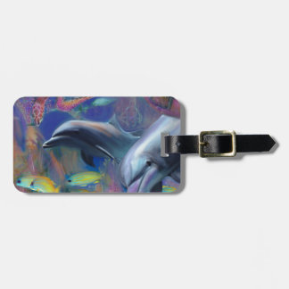 Enchanted Dolphins Luggage Tag
