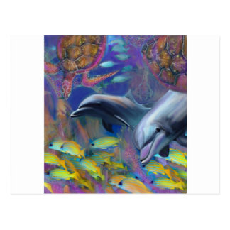 Enchanted Dolphins Postcard
