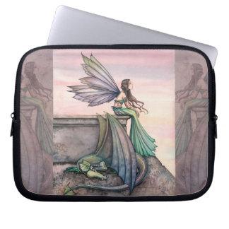 Enchanted Dusk Fairy and Dragon Laptop Sleeve