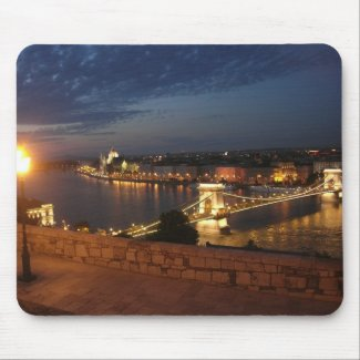 Enchanted evening in Budapest Mousepads