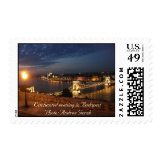 Enchanted Evening in Budapest Postage Stamp