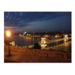 Enchanted Evening in Budapest Postcard