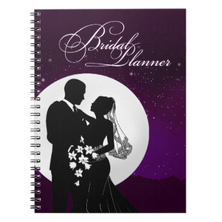 Enchanted Evening Nighttime Wedding Bridal Planner Spiral Notebook