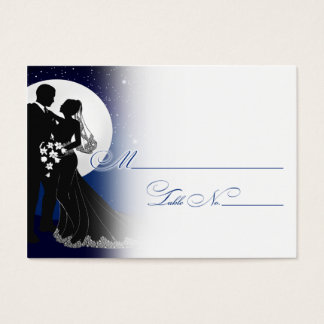 Enchanted Evening Nighttime Wedding Placecard Business Card