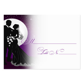 Enchanted Evening Nighttime Wedding Placecard Large Business Card