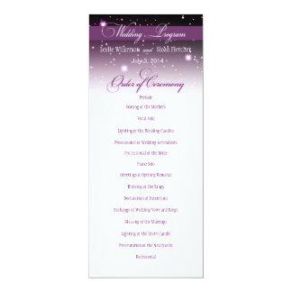 Enchanted Evening Nighttime Wedding Program